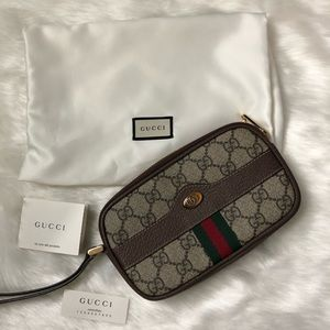 Gucci Supreme Ophidia Wristlet Authentic